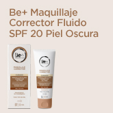 Be+ Maquillaje Fluido Corrector Oil-Free SPF20 Piel Oscura