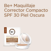 Be+ Maquillaje Compacto Corrector Oil-Free SPF30 Piel Oscura